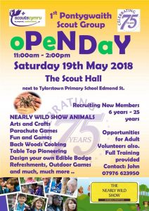 1st Pontywaith Scout Group Openday 19 May 2018
